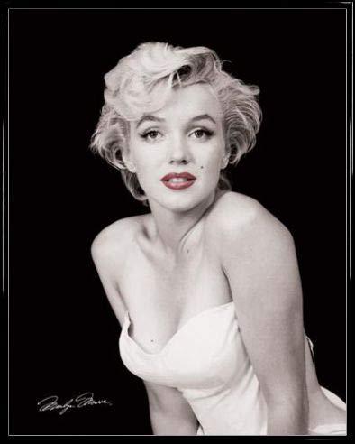 1art1 Marilyn Monroe Mini Poster e Cornice (Plastica) - Red Lips (50 x 40cm)