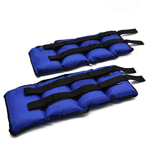 takestop® Coppia Pesi 4KG Totale (2kg cadauno) per Caviglie Polsi Sport Fitness CAVIGLIERE Palestra Judo Boxe Thai Step Danza Riabilitazione Colore Casuale
