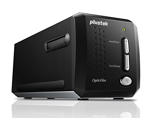 Plustek OpticFilm 8200i Ai 35mm Dia/Negativ Filmscanner mit Infrarotsensor (7200 DPI, USB) inkl. SilverFast Ai Studio 8 Software