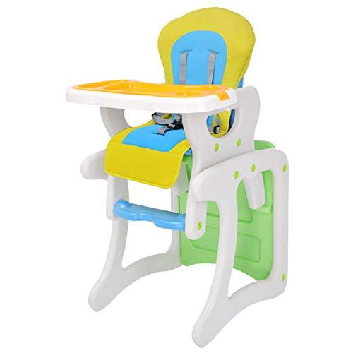 KUANDARYJ Multifonctionnel Chaise Haute Bébé Réglable, Pratique et Compacte, Green