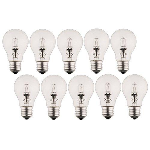 Preisvergleich Produktbild 10 x Halogen Glühbirne A55 E27 18W=21W dimmbar warmweiss / Luminizer 3000