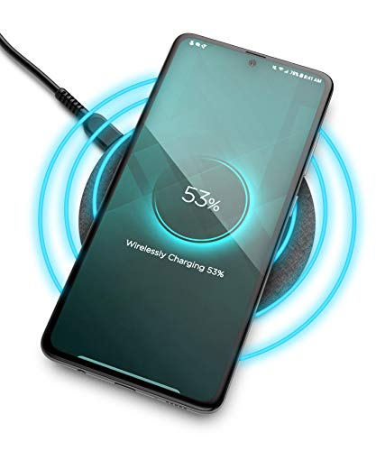 Encased Wireless Charger Pad for Samsung Models (Quick Charge 3.0) Galaxy Note 10 Plus /S9/ S10 / S20 Plus / s21 Ultra (Fast Charging Qi Enabled) Non-Slip, Case Compatible (Premium Metal Construction)