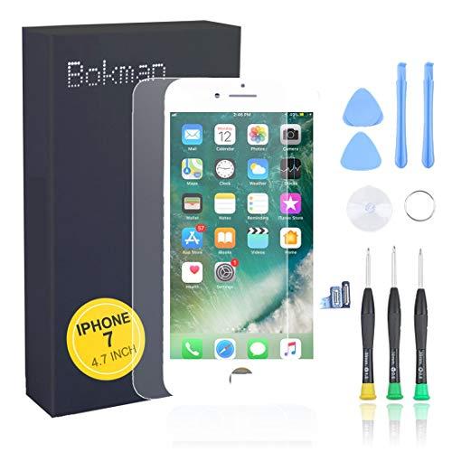 bokman voor iPhone 7 Scherm LCD Touchscreen Display Montage voorpaneel met benodigde gereedschapsset, Wit