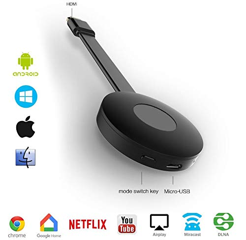 Wireless Screen Mirroring Display Dongle, HDMI Wireless Display Receiver- Wifi Receiver Streaming, Voor Android/Windows/Ios/Miracast/Airplay DNLA (1080P)