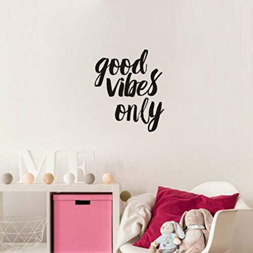 stickers muraux autocollant mural Good Vibes Only Quotes Inspiring Lettrage Home Decor pour salon chambre chambre salon chambre d'enfants