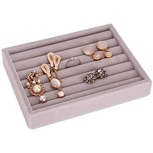 Guuisad Cajón caliente anillos bricolaje pulseras caja de regalo joyería almacenamiento bandeja joyería organizador pendientes soporte tamaño pequeño ajuste la mayoría espacio de la habitación (bandej
