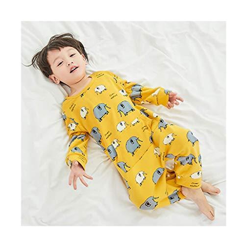 Neugeborenen Netter Elefant drucken One-Piece-Pyjama for Kinder, Baby-Kleidung Neugeborenen Bodysuit Spielanzug-Overall Onesies, Kind Schlafanzüge, mit langen Ärmeln Weich ( Color : A , Size : XL )