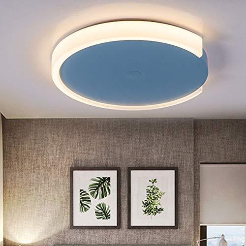 LWX Lámpara De Dormitorio Moderna Azul Sala De Acrílico Lámpara De Techo LED Lámpara De Techo For El Hogar Simple Diámetro 480 (mm)