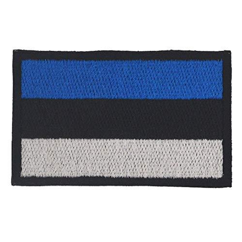 Estlandische Flagge, Aufnäher, bestickt, zum Aufbügeln oder Aufnähen, Emblem, taktisch, Militär, Moral, lustige Aufnäher, Applikationen mit Klettverschluss