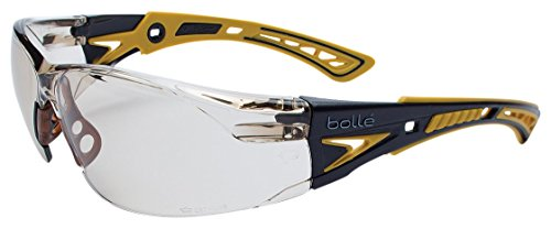 Bollé Safety 40245, Rush+ Safety Glasses Platinum, Yellow & Black...