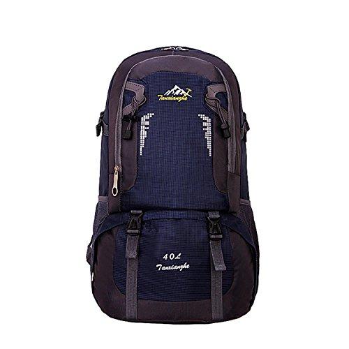 40L randonnée sac à dos alpinisme voyage campant sac à dos extérieur multifonction léger loisir sacs à dos Pack H53 x L32 x T17 cm , dark blue