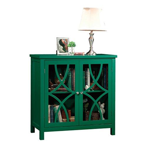 Sauder Palladia Accent Storage Cabinet, L x 15.75' W x 31.50' H, Emerald Green finish