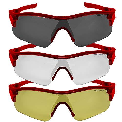 VeloChampion Warp Ciclismo Conducción MTB Gafas Sol