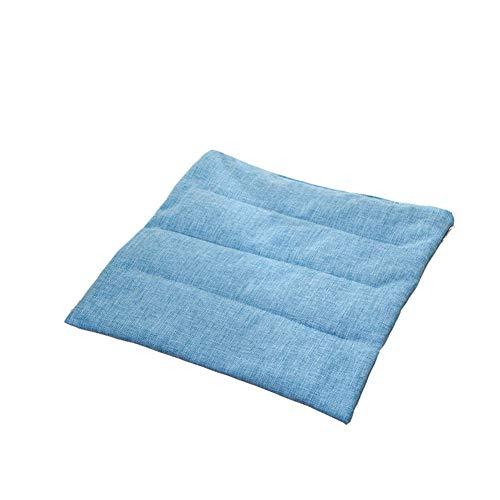oxskk Quadrato Solido Tappeti Nidiari per Kicthen Dinning Room,Comfort E Morbido Cuscini per Sedili con Cuscino Sedia Cravatta Blue 40x40cm(16x16inch)