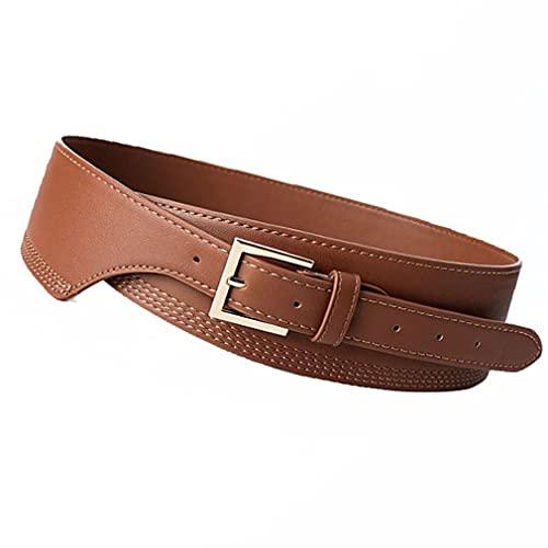 Greatangle-UK Cinturón de Cintura Ancha Accesorios para Abrigos Cuero de PU Hebilla...