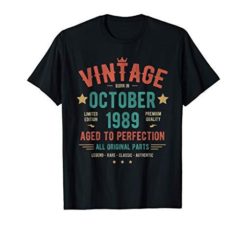 Vintage Clasico Octubre 1989 Camiseta - Nacido en 1989 Camiseta