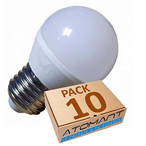 LED Atomant G45/B45 LED-gloeilamp, G45, 7 W, warmwit 3000 K, 680 lumen, fitting E27, komt overeen met 75 W, 7 W, 45 mm, 10 stuks