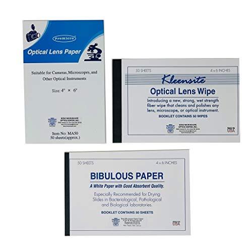 Optical Lens Tissue Variety Pack with BIBULOUS Paper, 150 Sheets (201VAR)