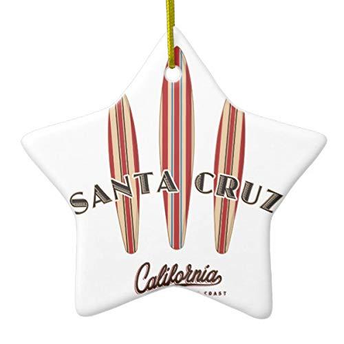 Tamengi Santa Cruz California Tres Tablas de Surf Adorno de cerámica