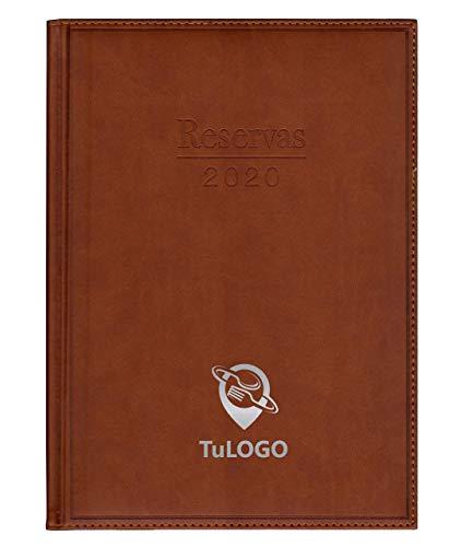 Libro de Reservas 2020 para Restaurantes y Hostelería. 773 páginas. Grabado Plata con su Nombre o Logo.Todo Incluido. SimilPiel