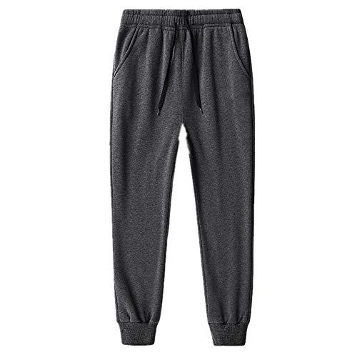 N\P Pantalones casuales para hombre con ropa de invierno de felpa y pantalones casuales para hombre
