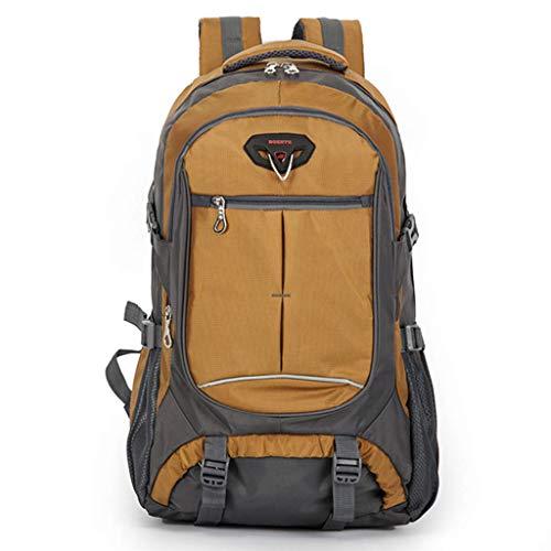 WGKUMMQN Outdoor-reisrugzak, multifunctionele bergbeklimmen camping laptoptas, grote capaciteit, nylon, waterdicht, ademend geel