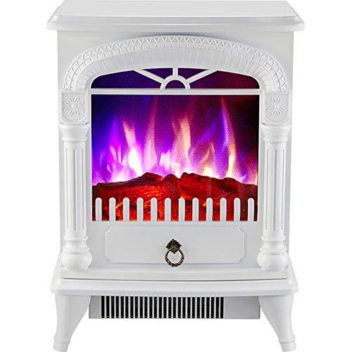 YXCA Heater Kamin Heizung Mit Flammeneffekt Startseite Vertikal Elektro-Kamin Three-Color Simuliert Flamme Heizung,Weiß