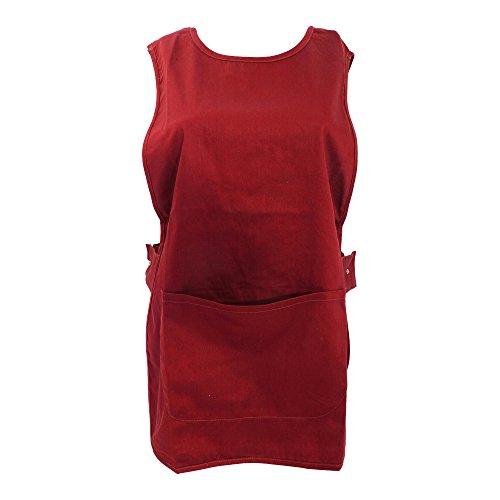 Warrior - Grembiule da Lavoro con Tasche (S) (Rosso)