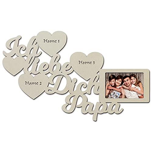 Papa Geschenkideen Danke das es Dich gibt Geschenk zum Vatertag Geburtstag Bester Vater Geschenke personalisiert mit Name Gravur Bilderrahmen 10x15 cm