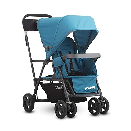 Joovy Caboose Ultralight Graphite Stroller, Sit and Stand, Tandem Stroller, Turquoise