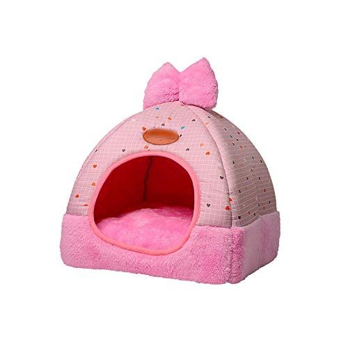 Pet bed Cama plegable para gatos y gatos de forma suave, para invierno, para gatos, para dormir, cama lavable 1-Style2-03-33x33x37cm