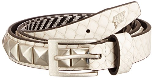 Lowlife of London Single Stud Ceinture, Blanc, 58 (Taille Fabricant:X-Small) Mixte