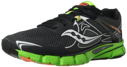 Saucony Men's Mirage 4 Running Shoe,Black/Green/Orange,11 M...