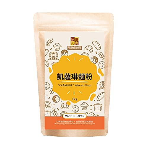 Tehmag, Japan Casarine Bread Flour, Japanese Flour for Baking, Unbleached Wheat Flour, 2.2 Pounds (1kg)
