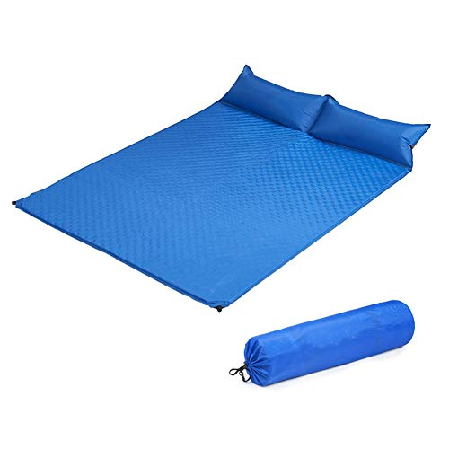 Dance angel Ultraleichte Schlafmatte Doppelmatratze Mit Kissen Aufblasbar Luft Picknick Zelt Waben Camping Pad - wasserdicht Und Feuchtigkeitsbeständig - Kompakt Und Tragbar Matratze
