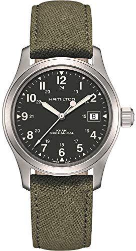 Hamilton Khaki Green Field Officer Mechanical Mens Watch H69439363 38mm Mens Watches