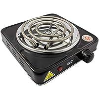 SFY Cocina eléctrica para Shisha cachimba - Hornillo para encender carbón - Placa de Fuego para cocinar - 1000W (Negro)