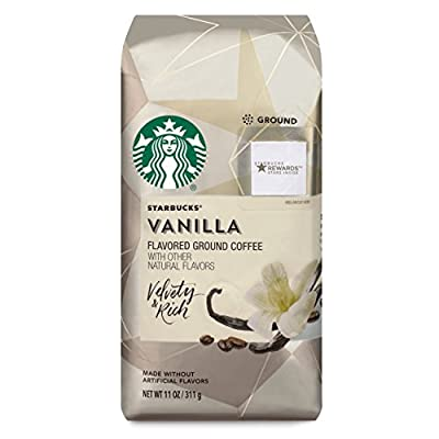Starbucks Flavored Ground Coffee — Vanilla — No Artificial Flavors — 6 bags (11 oz. each)