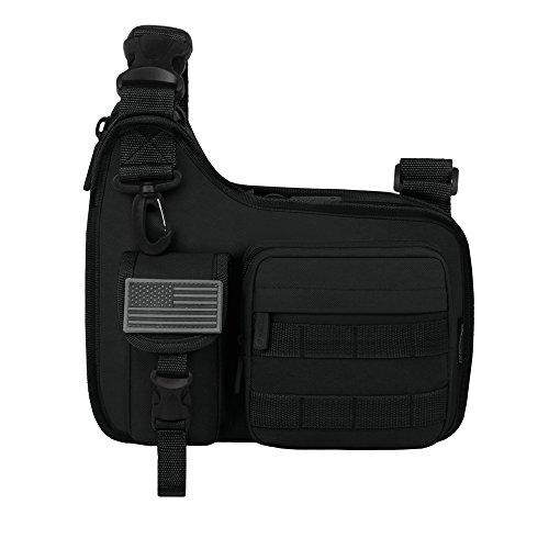 East West U.S.A RT518 Tactical Shoulder Sling Gun Range Holsters Cases Utility Bag, Black, 11.5'