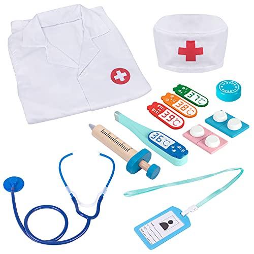 Attmu Kids Doctor kit 13 Pcs Pretend Play Educational Dentist Medical Kit Toys for Kids Toddler Boys Girls 3 4 5 6 7 8...