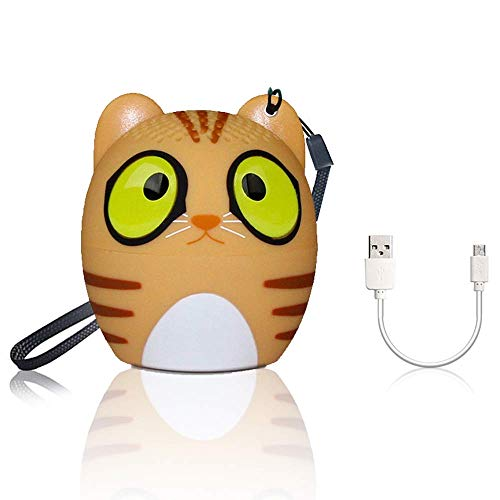 Bluetooth Lautsprecher TAKNI Lautsprecher mit Freisprechfunktion und Fernbedienung Kamera Funktion (Katze)