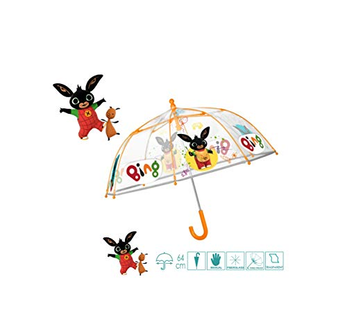 Perletti Manual Bing 42 cm paraguas de niño (personajes), multicolor, 8015831755045
