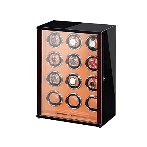 AMAFS Reloj Caja enrolladora para Relojes automáticos con Motor silencioso Pantalla táctil LCD 5 Modos de rotación Pantalla de Control Remoto y Estuche de Almacenamiento Joyero Festival