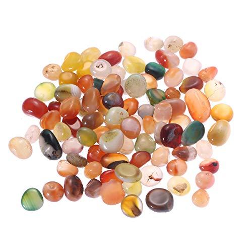 WINOMO Piedras decorativas de río, 500 g, piedras de colores naturales, 0,5-1 cm, pequeñas piedras decorativas para jardín, acuario,...