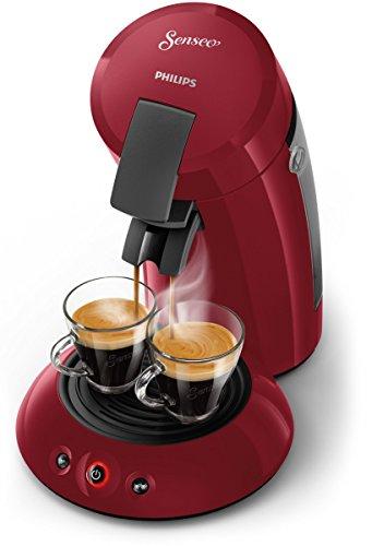 Senseo Original HD6553/80 Machien à café autonome semi-automatique, Machine à café à capsules 0,7L rouge – Cafetière (autonome, café en capsules, 0,7 l, dosettes de café, 1450 W, rouge)