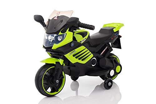 Toyas K1200 Kindermotorrad Polizeimotorrad Kinder Elektro Motorrad mit Soundeffekten 1 x 35W Motor 6V / 4,5Ah Grün