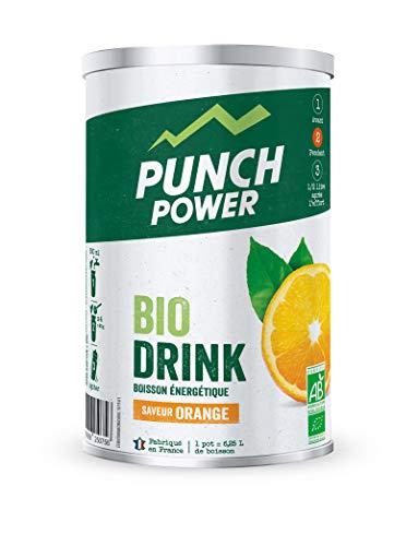PUNCH POWER - Biodrink - Orange - Pot 500 g - Boisson Glucidique de l'effort - Différentes formes de glucides (maltodextrine, dextrose, fructose, saccharose) - Bio - Marque Française