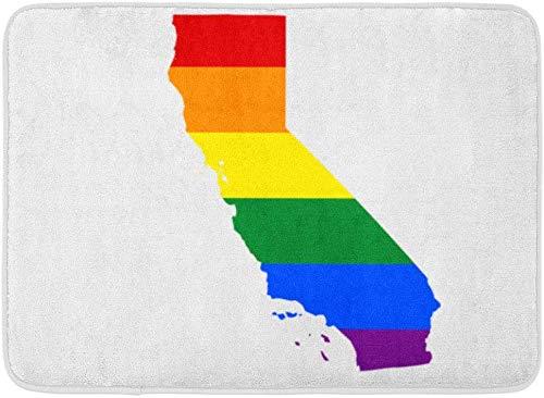 ECNM56B Fußmatten Bad Teppiche Fußmatte Bunte Vielfalt Kalifornien Gay Pride State LGBT Amerika Angeles 15,8