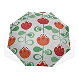 Block Sun Umbrella Dutch Beautiful Daisy Flower 3 Fold Art Umbrellas (impresión Exterior Sun Umbrella Women Plegable Umbrella Travel Womens Umbrellas For Rain