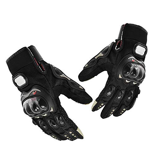 Alien Technology Guantes Probiker Motociclismo Ciclismo Uso Urbano Moto (Extragrande, Negro)